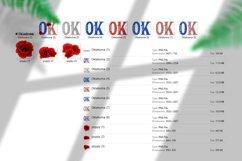 State abbreviation. USA sublimation. Oklahoma Product Image 5