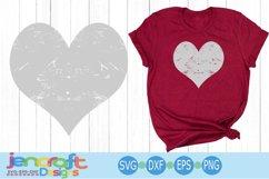 Distressed Heart, Grunge Valentine SVG Cut file Product Image 1