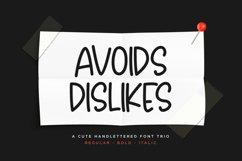 Avoids Dislikes | 3 Handmade Font Product Image 1