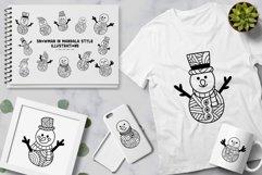 Snowman In Mandala Styles illustrations Product Image 2