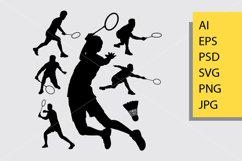 Badminton sport silhouette Product Image 1