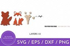 Oh For Fox Sake SVG | Fox Cut File Design | Funny Animal SVG Product Image 2