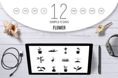 Plant icon set, simple style Product Image 1