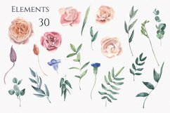 Hydrangea and Roses Watercolor Set Product Image 3