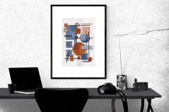 Hand painted Abstract Simple Geometric Forms Composition Product Image 4