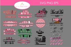 42 Split Family Monogram SVG Mega Bundle Layered Monogram Cu Product Image 1