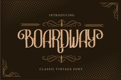 Boardway | Classic Vintage Font Product Image 1
