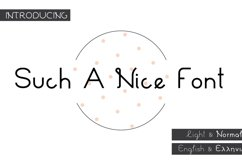 Such a Nice Font Product Image 1