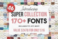 Super Collection | 170 Plus Font Bundles Product Image 1