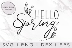 hello SPRING SVG-Spring SVG-Hello SVG-Season Svg-Clip Art Product Image 1