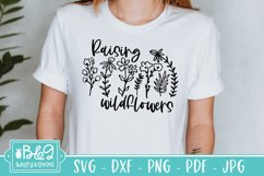 Sunflower and Wildflower SVG Bundle   Floral Line Art Product Image 6