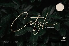 Cutyle Monoline Script Product Image 1