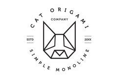 Cat Origami Logo Product Image 1