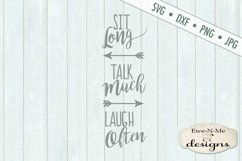 Sit Long Talk Much Laugh Often SVG DXF File Product Image 2