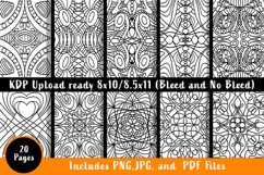 Swirly Style Coloring Pages - Printable PDF. PNG, JPG files Product Image 3
