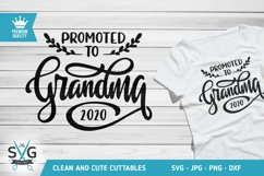 Promoted to Grandma 2020 SVG cutting file, New Grandma svg Product Image 1