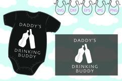 Daddy's Drinking Buddy SVG, Hello World SVG Newborn SVG Product Image 1