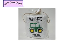 Truck Tractor Dump Toilet Paper Embroidery Design Product Image 4