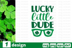 Lucky Little Dude SVG Cut File   St Patricks Day Cricut Product Image 1