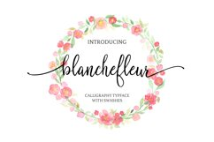Blanchefleur Calligraphy Font Product Image 1