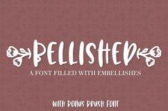 Bellished - Ornament font with bonus brush font! Product Image 1