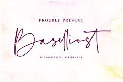 Baselliost handwritten Script font Product Image 1