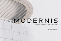 Modernis - Modern Minimalist Font Product Image 1