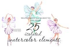 Ballet watercolor clip art Product Image 4