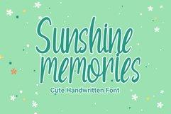 Sunshine Memories - Handwritten Font Product Image 1
