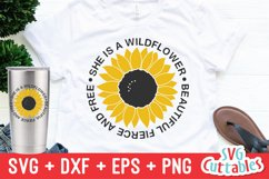 Sunflower SVG | Sunflower Quote | Summer | Shirt Design Product Image 1