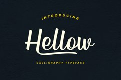 Hellow - Calligraphy Typeface Product Image 1