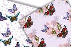 Butterflies Digital Paper.Seamless pattern. Product Image 6