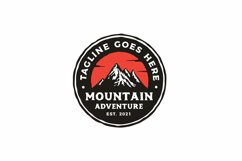 Hand drawn Vintage Hipster Mountain Adventure Stamp Logo Product Image 2