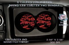 Galaxy  Sublimation  Car Coaster  Round Design Product Image 4
