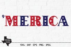 Merica SVG, Cut File, Patriotic Shirt Design Product Image 1