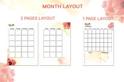 Printable undated planner's sheet A5 Product Image 2