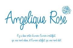 Angelique Rose Script font -white background-