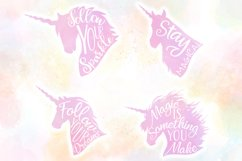 Unicorn Quotes SVG Cut Files Pack Product Image 2