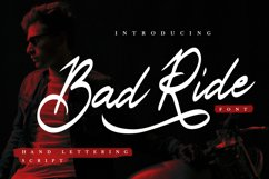 Bad Ride - Handlettering Script Product Image 1