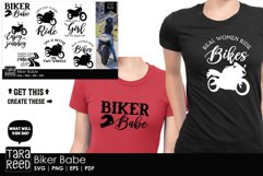 Biker Babe - Motorcycle SVG and Cut Files for Crafters Product Image 2