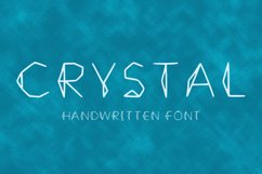 Crystal handwritten font Product Image 1