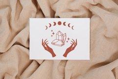 Witch hands svg, Crystal svg, Crescent moon svg, Magic gem Product Image 3