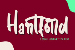 Web Font Hartford - Casual Hnadwritten Font Product Image 1