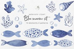 Marine watercolor clipart Product Image 1