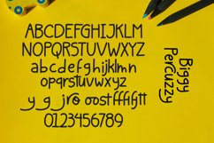 Percuzzy - Handwritten Font Product Image 2