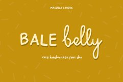 Bale Belly Cute Handwritten Font Duo Product Image 1