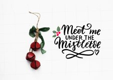 Romantic Christmas wishes svg. Mistletoe, Mr and Mrs svg Product Image 3