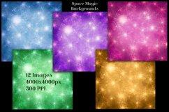 Space Magic Backgrounds - 12 Image Backgrounds Textures Set Product Image 2