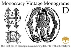 Monocracy Vintage Monograms Pack DB Product Image 6