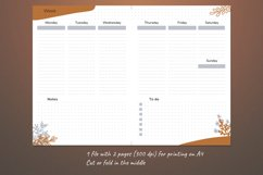 Undated weekly planner A5. Printable Monday week start Product Image 3